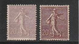 SEMEUSE - YVERT N°131 + 131a * - CHARNIERES - COTE = 172 EUROS - 1903-60 Sower - Ligned