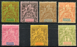 SOUDAN FR. 1894 perf.14x13.5 - Yv.9-15 (Mi.9-15) MNH (sans charniere) perfect (VF)