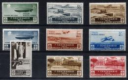 ITALY 1934 Air Post - Yv.69-77 (Mi.505-513) MNH (postfrisch) Perfect (VF) - 1900-44 Vittorio Emanuele III