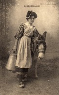Bourbonnaise Avec Son âne; - Personnages