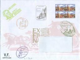España - 2010 - Sobre Servicio Filatélico Correos - Cuarto Trimestre 2010 - Imprimido Sello ED 4590 X 4 - 1931-Hoy: 2ª República - ... Juan Carlos I