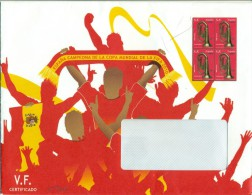 España - 2010 - Sobre Servicio Filatélico Correos - Tercer Trimestre 2010 - Imprimido Sello ED 4576 X 4 - 1931-Hoy: 2ª República - ... Juan Carlos I