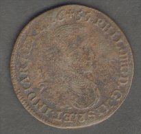 BELGIUM - SPANISH LOWCOUNTRIES / PHILIP IV Of SPAIN - TOKEN (1655 - BRUSSELS MINT) - Monarchia / Nobiltà