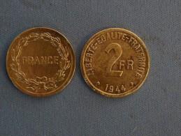 Pi�ce de 2 Francs TB de 1944
