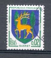 * 1964  N° 1351 B GUÉRET  OBLITÉRÉ SANS GOMME - Errors & Oddities
