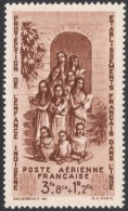 French India, 8 Fa. 8 Ca. + 1 R. 2 Fa. 1942, Sc # CB2, MH. - India (1892-1954)