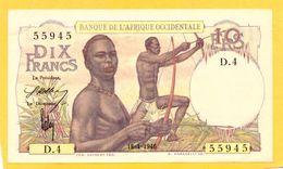BANQUE DE L´AFRIQUE OCCIDENTALE 10 FRANCS 18.01.1946  P.37 - Altri – Africa
