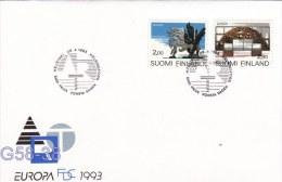 Finland FDC: 1993 Europa CEPT (G58-38) - 1993