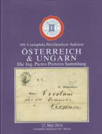 AC Corinphila Zurich 189. Auktion Mai 2014 : Austria Österreich & Ungarn Hungary, Provera Collec., Full Color, 246 Lots - Auktionskataloge