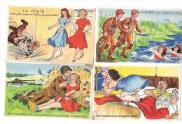 6725 - Lot De 4 CPA Humoristiques, - Cartes Postales