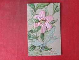Best Wishes  Silk Flower  Embossed   Ref 1415 - Other