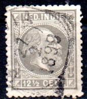 NETHERLANDS INDIES 1870 King William III - 121/2c. - Drab  FU CREASED CHEAP PRICE - Netherlands Indies