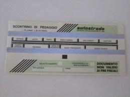 Firenze Autostrade Ticket - Biglietti Di Trasporto