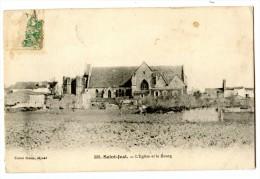 CPA  300. SAINT-JUST. - L'EGLISE ET LE Bourg -- Cliché Braun  /1520 - France