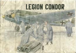 355-*SPAIN CIVIL WAR*WWII*10 UNCUT COUPONS*GUERRA CIVIL ESPA�OLA*CUENCA 1942*LEGION CONDOR*