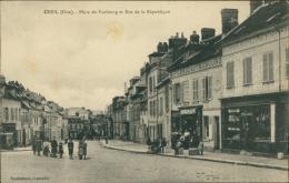 60 CREIL / Place Du Faubourg Et Rue De La République / - Creil