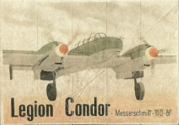 364-*SPAIN CIVIL WAR*WWII*10 UNCUT COUPONS*GUERRA CIVIL ESPA�OLA*ALCA�ICES, ZAMORA, 1942*LEGION CONDOR*
