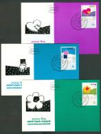 Israel MC - 1989, Michel/Philex No. : 1147-1149, - MNH - *** - Maximum Card - Cartes-maximum