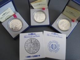 LOT EUROPA La Monnaie Parité 1999,2000 Et 2001 Grand Module - Andere