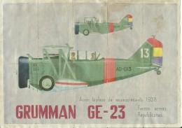 366-*SPAIN CIVIL WAR*10 UNCUT COUPONS*GUERRA CIVIL ESPA�OLA*BAZTAN, PAMPLONA, 1938*REPUBLICAN AVIATION*