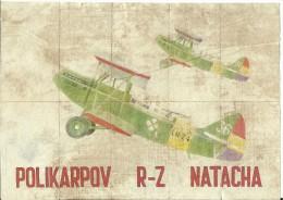 368-*SPAIN CIVIL WAR*10 UNCUT COUPONS*GUERRA CIVIL ESPA�OLA*ALBATERA, ALICANTE 1937*POLIKARPOV R-2*NATACHA*