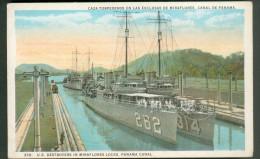 U.S. Destroyers In Miraflores Locks - Panama Canal - Panama