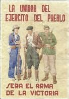 384-*SPAIN CIVIL WAR*10 UNCUT COUPONS*GUERRA CIVIL ESPA�OLA*BANYERES, TARRAGONA 1936*EJERCITO DEL PUEBLO*