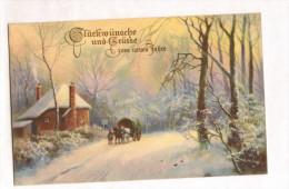 AK Glückwünsche Und Grüsse Zum Neuen Jahre 1925, Von Darmstadt Nach Stuttgart, 2 Bilder - Neujahr