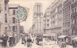 CPA De PARIS 5°  -  La Rue Lagrange Et Notre-Dame, Avec Un Tramway  Tracté Par 2 Chevaux //  TBE - Arrondissement: 05