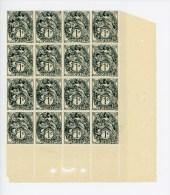 N°107 ** Bloc De 16 Timbres  -  Coin De Feuille Avec Perforations De Contrôle  -  Neuf Sans Charnière  -  T.B. - Nuevos