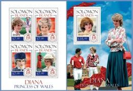 slm14112ab Solomon Is. 2014 Princess Diana 2 s/s