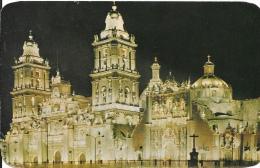 Méxique - La Catédral - Vue De Nuit - México - Carte Grand Format (14x22) - Mexico