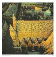 Wien - Stephansdom Achse - Carte Grand Format (15x15) - Églises