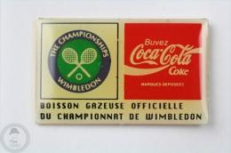 Coca Cola Official Sponsor - Wimbledon Tennis Championships  - Pin Badge #PLS - Coca-Cola