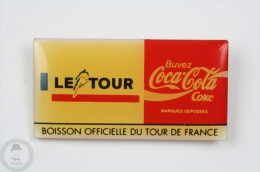 Le Tour - Official Drink Of The French Cycling Tour - Coca Cola Pin Badge #PLS - Coca-Cola