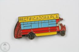 Old Double Decker Bus - Rectificadora Pla  Spanish Advertising - Pin Badge #PLS - Transportes