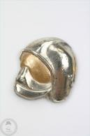 Sapeurs Pompiers Silver Colour Helmet - Pin Badge #PLS - Bomberos
