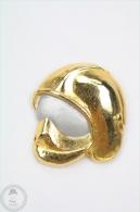 Sapeurs Pompiers Golden Colour Helmet - Pin Badge #PLS - Bomberos