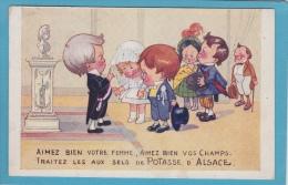 14 / 7 / 361  -  MARIAGE  ENFANTIN  - PUB  SELS  De  POTASSE D' ALSACE - Reclame