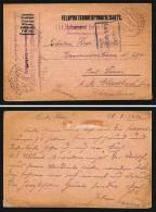 A2833) Austria Österreich FP-Karte Von Maschinengewehrabt. FP 73 27.8.1916 Mit Zensur TRIEST - Briefe U. Dokumente