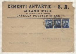VER3227 - REPUBBLICA , Da Milano 9/10/46 Affrancata Per 15 Lire Per La Romania - 6. 1946-.. Republik
