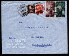 A2835) Italien Italy Luftpostbrief Von Genua 10.12.1947 Nach USA