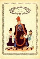 Trachten Der Alpenländer -LECHTAL Alter Original 10 -Farbendruck 1937 - Andere Sammlungen