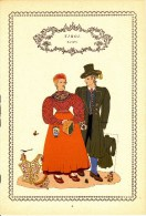 Trachten Der Alpenländer - ZAMS Alter Original 10 -Farbendruck 1937 - Ohne Zuordnung