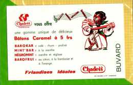 BUVARD :  Friandises Ideales  Baton Caramel - Sucreries & Gâteaux