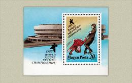 Hungary 1988. Ice Dancing Sheet MNH (**) Michel: Block 195A / 5 EUR - Ungebraucht
