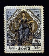 A2841) Vignette Sächsisch-Thür. Industrie- U. Gewerbeausstellung Leipzig 1897 Ohne Fa.-Eindruck - Vignetten (Erinnophilie)