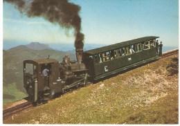 Funiculaires - Fahrt Zum Schafberggipfel, 1760 M Mit Zahnradbahn - Funicular Railway