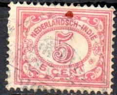 NETHERLANDS INDIES 1912 Numeral -   5c. - Pink  FU - Indes Néerlandaises