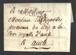 FRANCE 1817 Marque Postale Taxée De Toulouse  S/lettre Entiére - 1801-1848: Precursors XIX